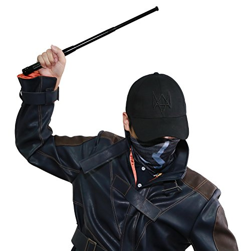 Xcoser WD Cosplay Black Mask Hat Mr Aiden Stick Suit for Halloween