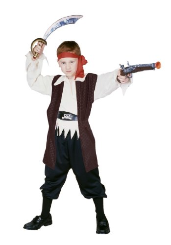 Caribbean Pirate Boy - Child Medium Costume