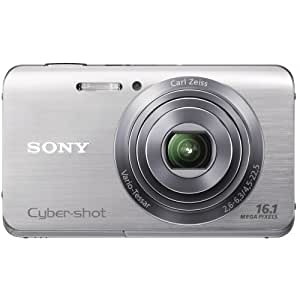 Sony Cyber-shot DSCW650 16.1 MP Digital Camera with 5x Optical Zoom and 3.0-Inch LCD (Silver) (2012 Model)