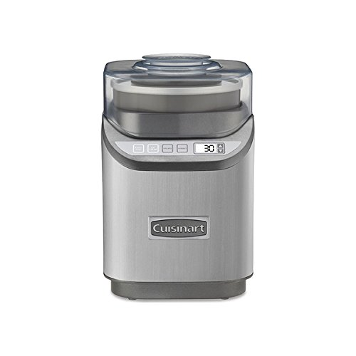 Cuisinart ICE-70 Electronic Ice Cream Maker, Brushed Chrome, 9.7-inches long x 8.6-inches wide x 13.2-inches deep (Cuisinart Ice 70 compare prices)