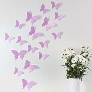 Wandkings set di 12 farfalle decorative per pareti effetto 3d dischetti adesivi inclusi - Farfalle decorative per pareti ...