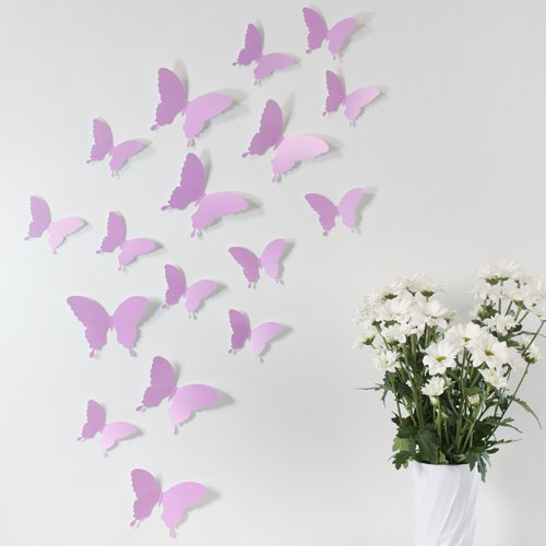 Wandkings 3D-10919 Schmetterlinge im 3D-Style,