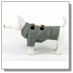 Big Small Pet Dog Cute T Shirt Sweater Clothing Autumn Winte Coat (Grey, L)