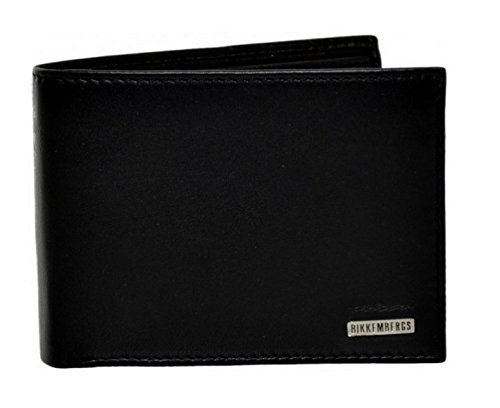 Bikkembergs Portafogli portatessere Money Wallet Leather Black