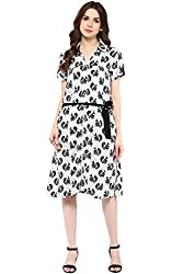 Akkriti by Pantaloons Women's Straight Dress ( 205000005637798, Black, Medium)