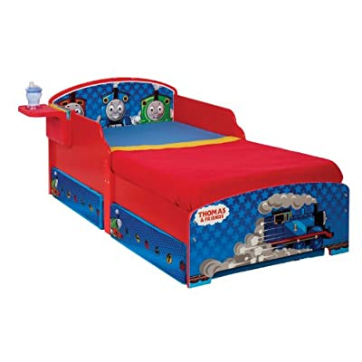 Thomas The Tank Engine Toddler Bed with Underbed Storage and Bedside Shelf