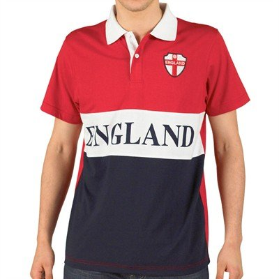 England Mens Classic Polo Red/White/Navy