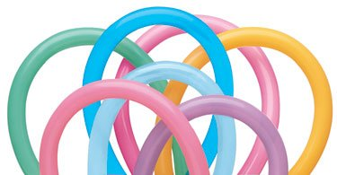 Pioneer Balloon Company 13767.0 Vibrant Assortment Latex Balloons, Multicolor - 1
