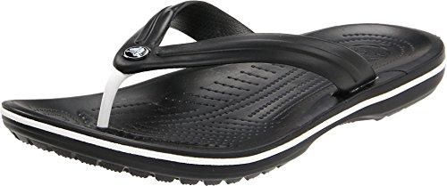 Crocs Unisex Crocband Flip-Flop,Black,4 US Men / 6 US Women