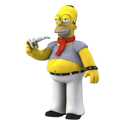 Simpsons 25th Anniversary 5 Inch Figure Series 5 Homer Simpson (Dressed like Lenny Kravitz)