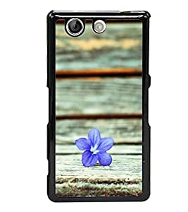 A flower 2D Hard Polycarbonate Designer Back Case Cover for Sony Xperia Z4 Compact :: Sony Xperia Z4 Mini