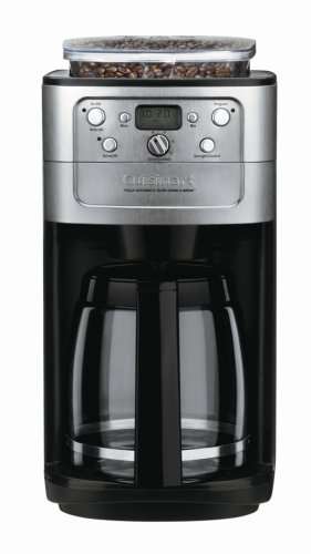 Cuisinart DGB-700BC Grind-and-Brew 12-Cup Automatic Coffeemaker, Brushed Chrome/Black