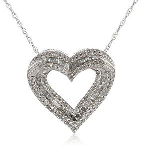 10k White Gold Diamond Filigree Hamsa Pendant Necklace