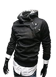 Integrity's home Mens Hoodies Solid Hooded Zipper velvet Hoody Outwear Jacket