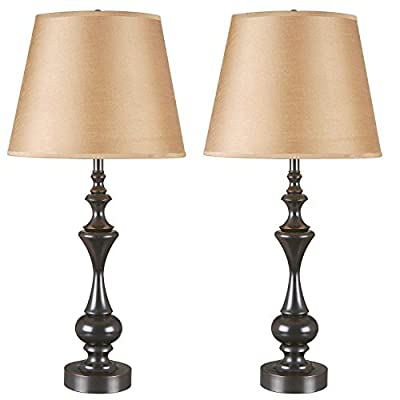 Kenroy Home 32200ORB Stratton II Table Lamp, 2-Pack