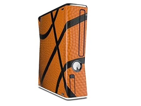 Basketball Decal Style Skin for XBOX 360 Slim Vertical