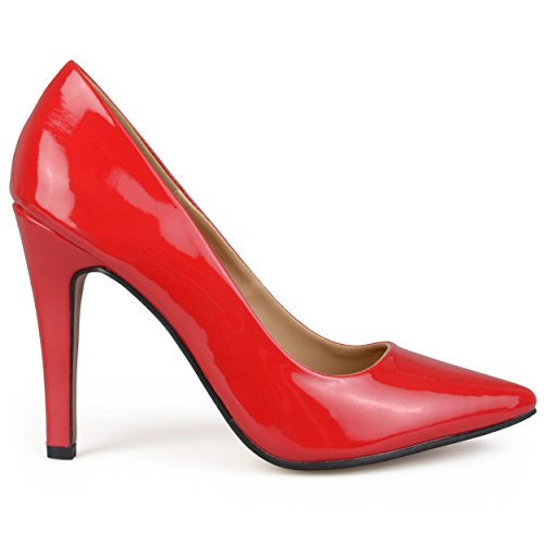 Brinley Co Women's Ana Dress Pump, Red, 7.5 M US (Red Heels compare prices)