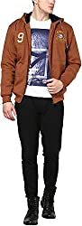Okane Men's Cotton Regular Fit Sweatshirt (35527 BROWN M, Brown, M)