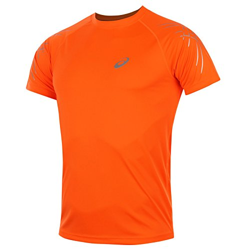 asics-oberbekleidung-stripe-short-sleeve-top-men-mehrfarbig-orange-white-l-121620-0521
