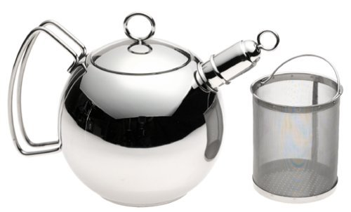 Wmf 1 1/2-Quart Stainless Steel Ball Shaped Tea Kettle With Infuser