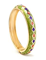 Akshim Green Alloy Bangle For Women