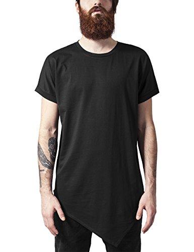 Urban Classics Asymetric Long Tee, T-Shirt Uomo, Nero (Black 7), XX-Large