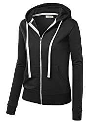 MBJ Womens Active Soft Zip Up Fleece…