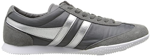 Gola Women's Wasp Shimmer Fashion Sneaker, Charcoal/Silver, 7 M US