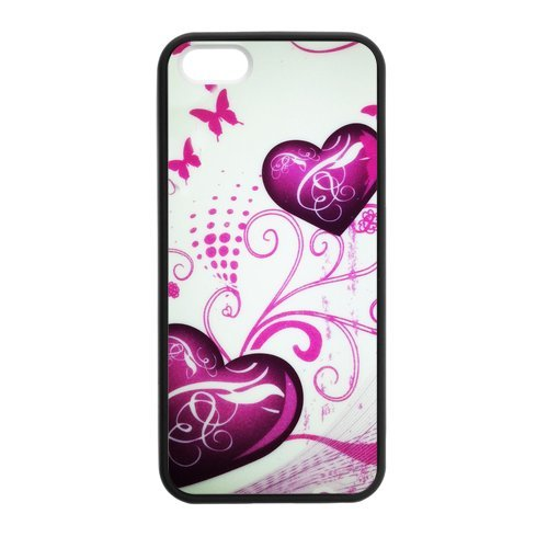 Generic Cell Phone Cases Cover For Apple Iphone 5S Case Iphone 5 Case Fashionable Art Designed With Beautiful Butterfly - K Personalized Shell front-1039055