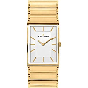 Jacques Lemans Liverpool 1-1755D mm Gold Plated Stainless Steel Case Gold Plated Stainless Steel Mineral Women's Watch