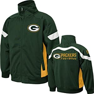 Green Bay Packers Youth Hunter Green NFL Premier Track Jacket at the
