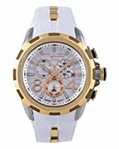 Mulco Deep Chronograph Silver Dial White Silicone Ladies Watch MW129382012