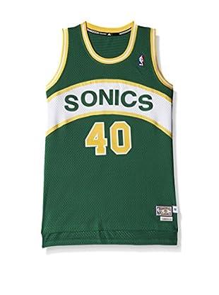 adidas Camiseta sin mangas Seattle Supersonics (Verde / Blanco)