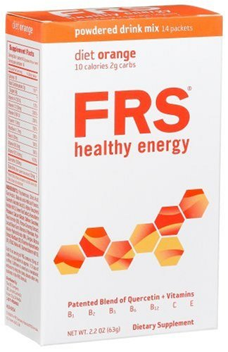 FRS Healthy Energy Powdered Drink Mix, Low Cal Orange, 14-Count Packets