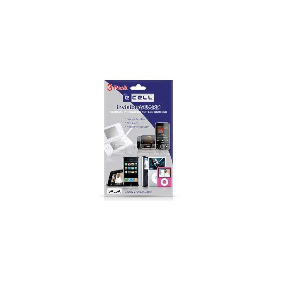 Ecell   3 x ANTI GLARE LCD SCREEN FILM PROTECTOR FOR HTC SALSA