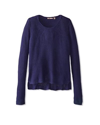 Cashmere Addiction Women's Rib Scoop Neck Sweater