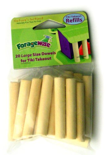 Cheap Nature's Instinct Foragewise Tiki Takeout – Refill Dowels, Large Quantity 20 (100-24301)