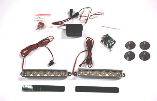 86655 Bumper Window Strobe 6 Led Amber