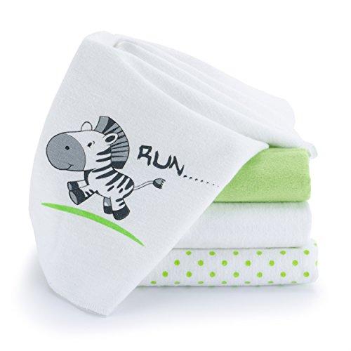 lot-de-4-serviettes-en-molleton-bavoirs-langes-motif-imprime-zebre-blanc-vert-80-x-80-cm-tres-doux-e