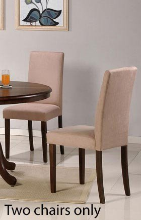 Set of 2 Parson Dining Chairs - Contemporary Style Beige Finish