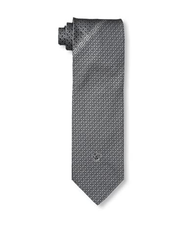 Versace Men's Dot Key Tie, Grey/Navy, One Size
