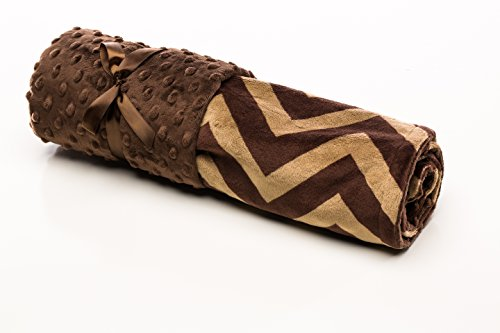 Elonka Nichole Baby Boy Receiving Blanket, Brown Chevron