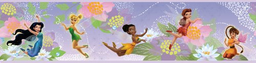 Roommates Rmk1492Bcs Disney Fairies Peel And Stick Border