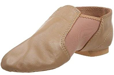 Dance Class Adult Unisex Caramel Neoprene Gore and Leather Slip on Jazz Boot (10ADULT)