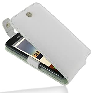 PDair Leather Case for Samsung Galaxy Note GT-N7000 - Flip Top Type (White)