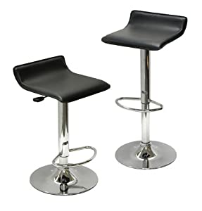 Winsome Wood Air Lift Adjustable Stools, Set of 2 by Unknown