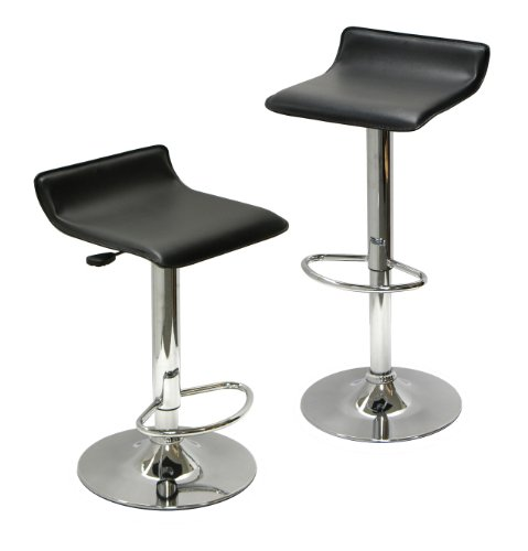 Winsome Wood Air Lift Adjustable Stools, Set of 2 image