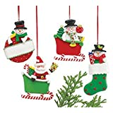 ORNAMENT SET of 12 snowman and santas
