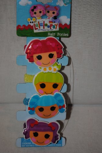 Lalaloopsy Barrettes, 4 Hair Bows: Tippy, Pix, Mittens & Peanut - 1
