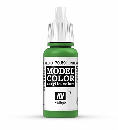 Vallejo Intermediate Green Paint, 17ml - 1